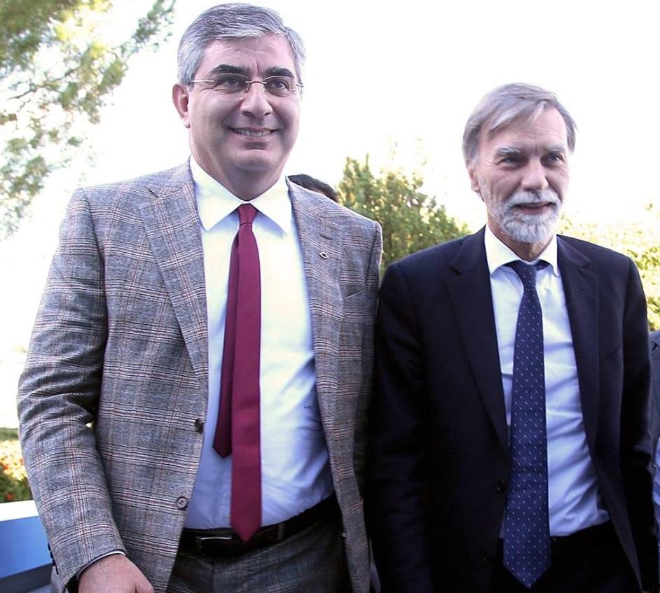 Il Governatore Luciano D'Alfonso e il Ministro Graziano Delrio