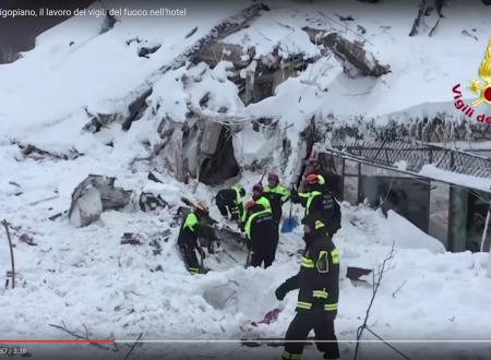 Il video dei soccorsi dei Vigili del Fuoco nell'Hotel Rigopiano di Farindola