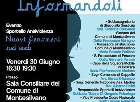 """Cuore Nazionale Abruzzo, 1° anniversario del progetto Medea: a Montesilvano convegno antiviolenza """"Fermiamoli Informandoli"""""""