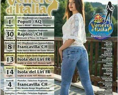 Rapino (Ch): il 30 giugno tappa abruzzese di Miss Venere d'Italia verso la finalissima nazionale