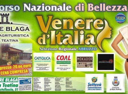 Ripa Teatina: Venere d'Italia a Torre Blaga domenica 20 agosto