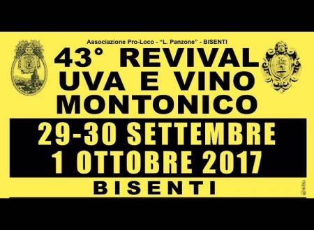 Bisenti (Te): Oggi sfilata dei carri allegorici al Revival del Vino Montonico