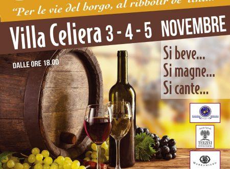 """Villa Celiera: evento """"Aspettando San Martino"""" il 3, 4 e 5 novembre 2017"""