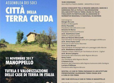 Manoppello (Pe): l'11 novembre un convegno sulla tutela e la valorizzazione delle case di terra cruda