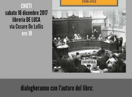 """Chieti: sabato pomeriggio verrà presentato, presso la Libreria De Luca """"Il Tribunale Speciale e la Presidenza di Guido Cristini 1928 – 1932"""" di Pablo Dell'Osa"""