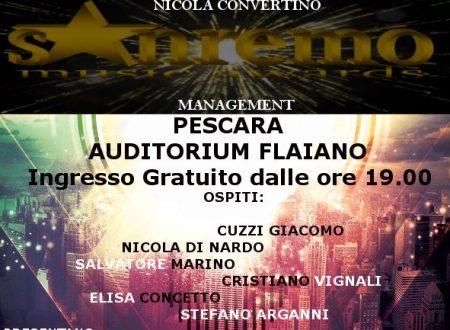 """Pescara (Pe): Venerdi 19 gennaio (h 19.00), la selezione di """"Sanremo Music Awards"""" all' """"Auditorium Flaiano"""""""