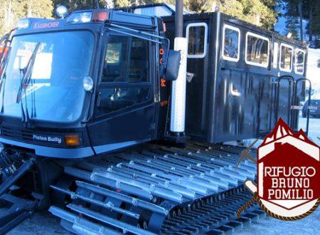 Raccolta fondi del Rifugio Pomilio per l'acquisto di un battipista per trasportare i turisti e i visitatori