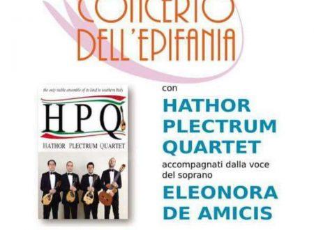 """Concerto dell'Epifania con l' """"Hathor Plectrum Quartet"""" presso il Teatro Comunale di Lettomanoppello (Pe)"""