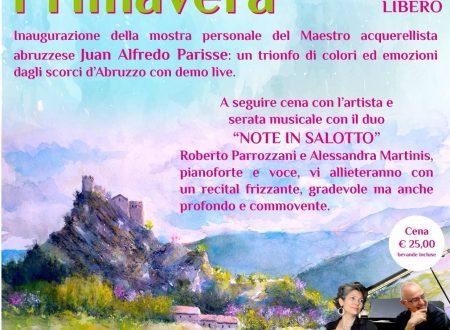 """L'evento artistico – musicale """"Benvenuta Primavera"""" presso il """"Civico 20 RistorArtGallery"""" di Roccascalegna (Ch)"""