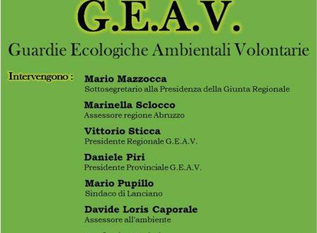 Lanciano (Ch): sabato mattina presentazione delle Guardie Ecologiche Ambientali Volontarie (GEAV) nella Sala di Conversazione