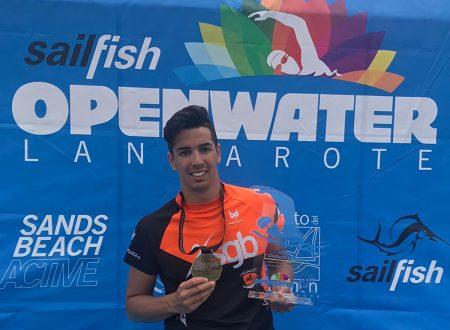 Il Nuotatore Teatino Alessio Matarazzo ottiene la medaglia d'oro alle Canarie nei 5000 mt