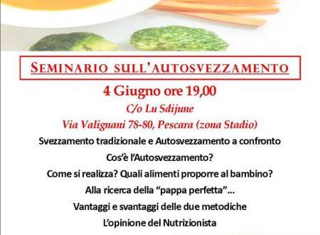 Pescara: dal 4 giugno i seminari sull'autosvezzamento del bambino della dott.ssa Chiara Di Gianvittorio