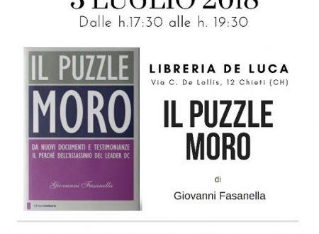 """La grande storia torna a Chieti con """"Il Puzzle Moro"""" di Giovanni Fasanella"""