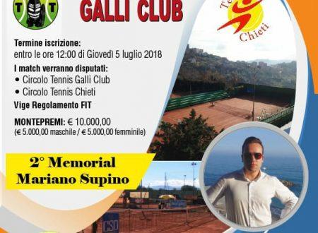 Chieti: dal 7 al 22 luglio il 2° Memorial Mariano Supino
