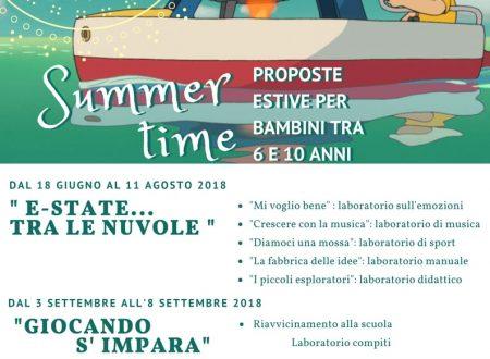 Sambuceto: dal 18 giugno al 11 agosto il NEA SUMMER TIME per i bambini dai 6 ai 10 anni