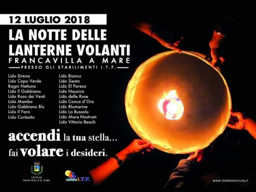 """Stasera """"La Notte delle Lanterne Volanti"""" a Francavilla"""