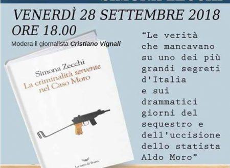 """Loreto A.: venerdì  pomeriggio Simona Zecchi sul ruolo della criminalità organizzata nel """"caso"""" Aldo Moro"""