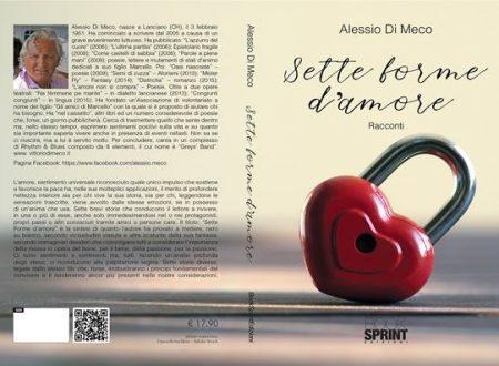 """Roccascalegna: sabato presentazione del libro """"SETTE FORME D'AMORE"""" presso il CIVICO 20 RistorArtGallery"""