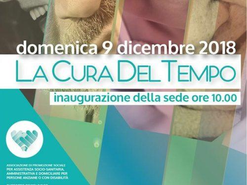 """Chieti Scalo: domenica 9 dicembre inaugura la sede dell'Associazione """"La Cura del Tempo"""""""