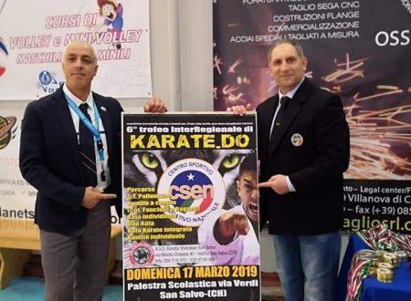 San Salvo: domenica 17 la semifinale del VI trofeo Csen interregionale di Karate