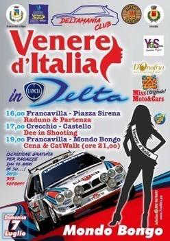 """Domani """"Venere d'Italia in Delta"""" a Francavilla al Mare e Crecchio"""