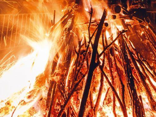 Atri. la tradizionale festa dei  Faugni l'8 dicembre