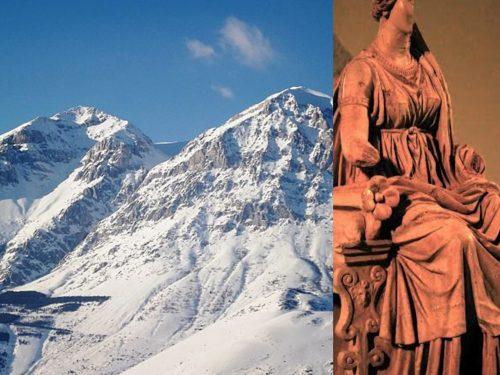 Monte Velino e la Dėa Angizia sulle rive del Fucino