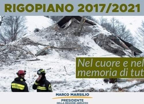 Rigopiano 18/01/2017, il ricordo del Presidente Marsilio