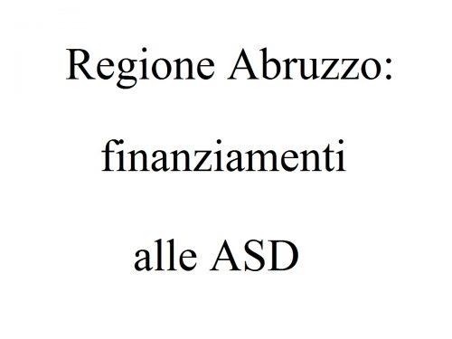 Asd Abruzzo: stanziati 1.5 milioni dalla Regione